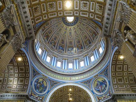 19.06.2017, Vatican City: Indoor interior of St. Peters Basilica, St. Peters Square, Vatican City.
