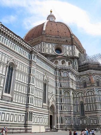 14.06.2017, Italy, Toscana, Florence: Piazza del Duomo and Cathedral Santa Maria del Fiore .
