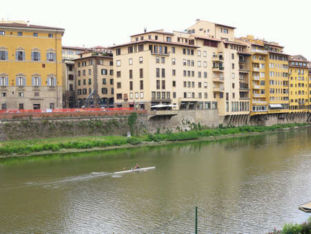 14.06.2017 Florence. Italy:  Beautiful panoramic view of the Arno River and the town of Renaissance - Firenze Editoriali