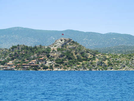 Fortress of Simena Kalesi in the Kekova Islands. Near Antalya, Turkey