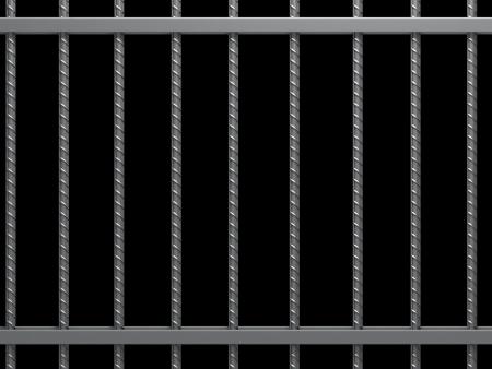 cellule de prison: Barreaux de prison.