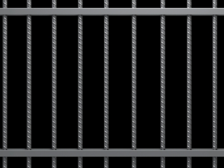 vertical bars: Prison bars.