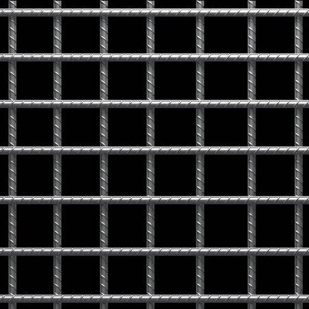 vertical bars: Metal cage