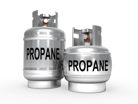 tanque de combustible: Los tanques de propano.