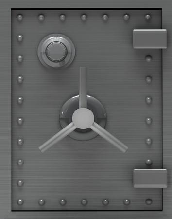 caja fuerte: Banco seguro puerta.