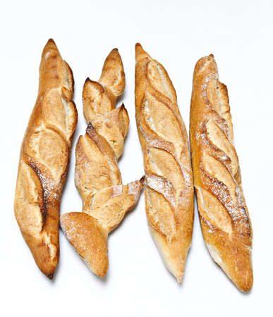 basketful: french bread Stock Photo