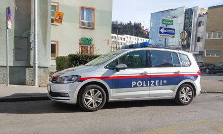 Austrian federal police car on the street