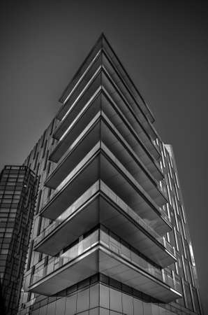 Milan/Italy- July 14, 2016: modern buildings in new Porta Nuova business district 新闻类图片
