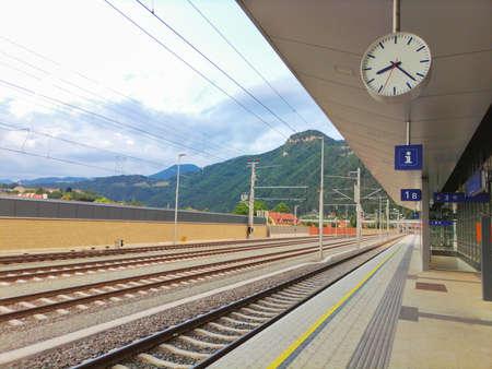 Little train station in the district of Graz-Umgebung, Styria region, Austria