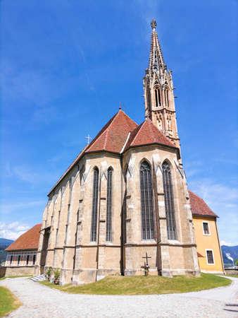 The pilgrimage Church Maria Strassengel, a 14th century Gothic church in the town of Judendorf Strassengel near Graz, Styria region, Austria