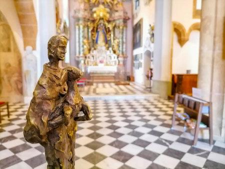 Beautiful interior of the pilgrimage Church Maria Strassengel, a 14th century Gothic church in the town of Judendorf Strassengel near Graz, Styria region, Austria