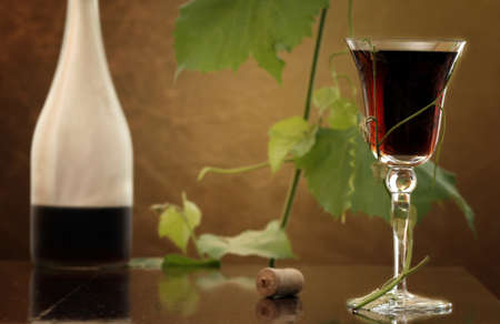 red wine glass against classic background Stock Photo - 3954794