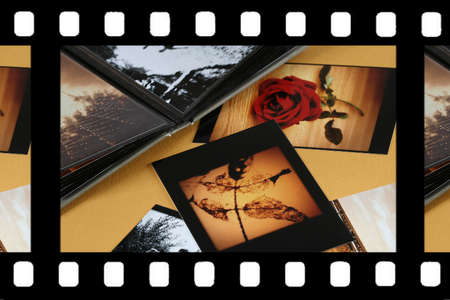 Photo Album with copy space. Great details! Stock Photo