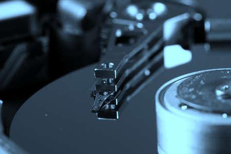 Macro photo - Hard Disk Drive. photo