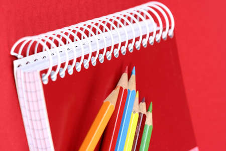 Close-up picture of pencils and agenda photo