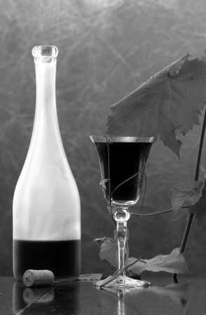 red wine glass against classic background Stock Photo - 4018790