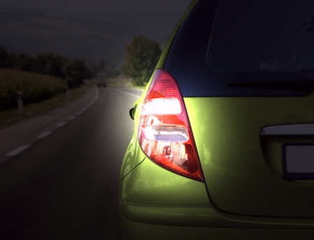 runing: Car runing on the highway. Stock Photo