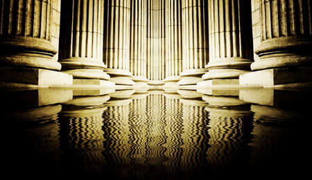 Close-up of a bright classical pillar Stock Photo - 4459113