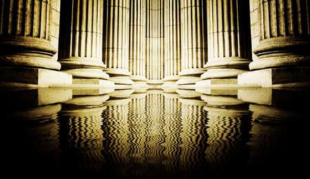 Close-up of a bright classical pillar Stock Photo - 4459113