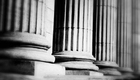 law: Close-up of a bright classical pillar