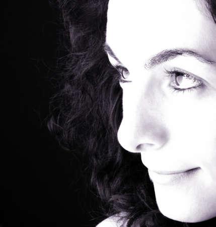 Close-up of a beautiful woman face. Stock Photo - 5250084