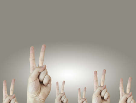 good quality: Hand sign. Answer concept. Good quality. Stock Photo