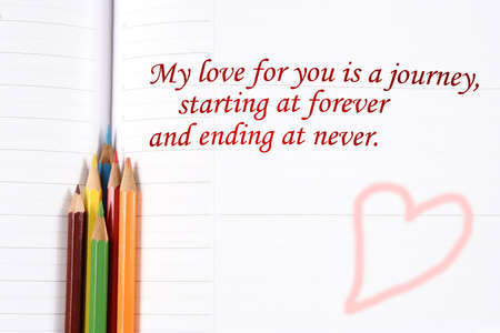 Love message on a white paper. Stock Photo - 6263821