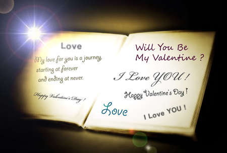 affection: Love message on a white paper.
