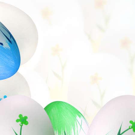 easteregg: Well painted easter eggs. Good for background. Stock Photo