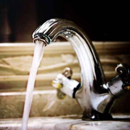 granit: Close-up of a granit sink.