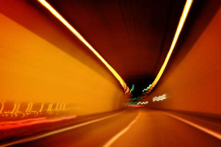 Car lights trails in a tunnel Stock Photo - 7128769