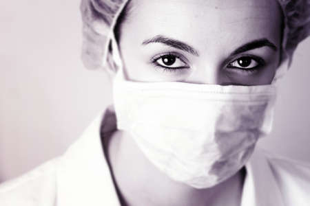 Professional young doctor at work. Close up. Stock Photo
