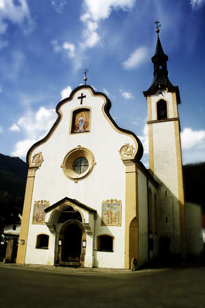 catolic: Old catolic church in a quiet mountain town