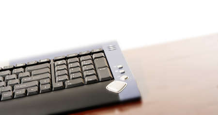 Close-up picture of a computer keyboard -isolated on white photo