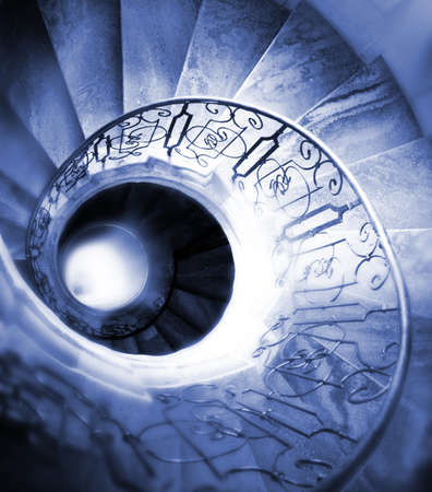 Very old spiral stairway case Stock Photo - 7450991