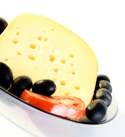 roquefort: Roquefort cheese with tomato and olive
