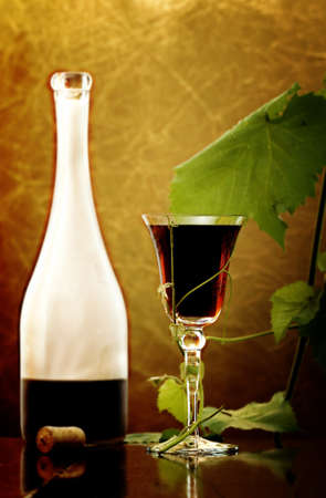 red wine glass against classic background Stock Photo - 7550950
