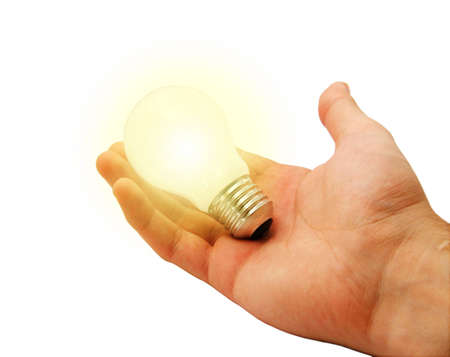 Alight Bulb in hand photo