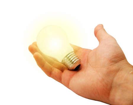 alight: Alight Bulb in hand