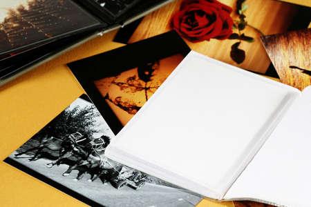 Photo Album with copy space.