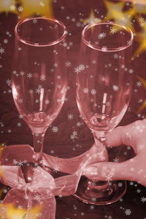New year party with champagne glasses Stock Photo - 8003228
