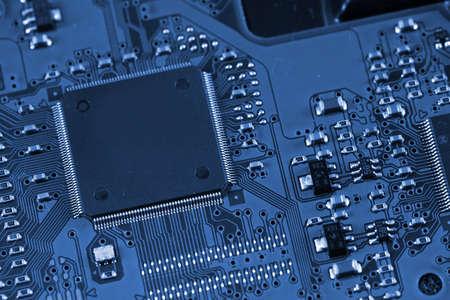 Electronic circuit board. photo
