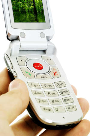 Cell phone isolated on white Stock Photo - 8267803