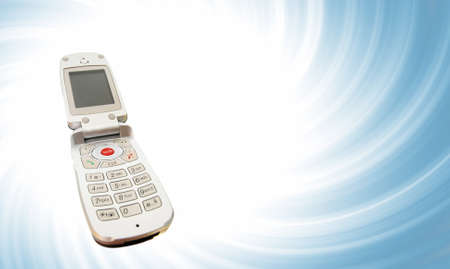 Modern clamshell cell phone Stock Photo - 8267707
