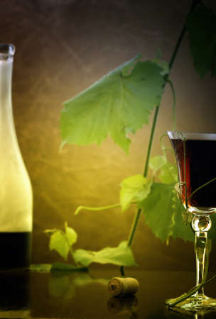 red wine glass against classic background Stock Photo - 8267693