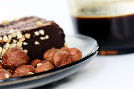 Almond cake with chocolate stuffing Stock Photo - 8344293