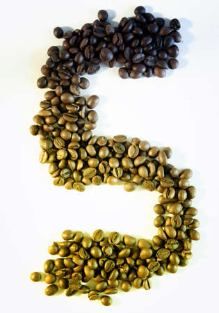 consider numbers: Numbers made from coffee beans Stock Photo