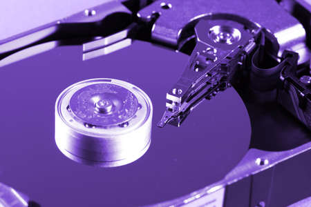 Macro photo - Hard Disk Drive. Great details ! Stock Photo - 8344385