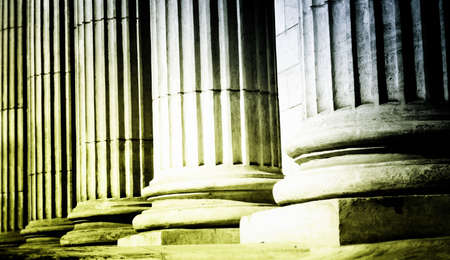 legal office: Close-up of a bright classical pillar