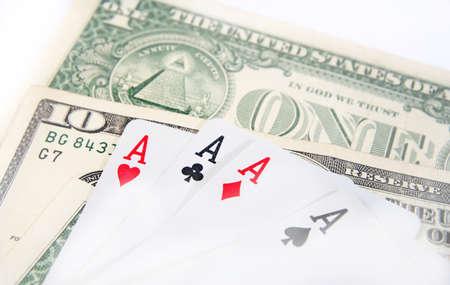 Macro image of money isolated on white photo